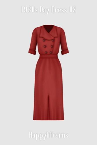 1930s Day Dress 02