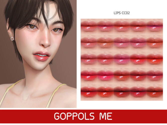 Sims 4 GPME GOLD Lips CC02 at GOPPOLS Me