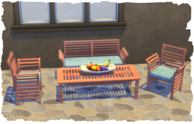 Sims 4 Amarillo garden set by Chalipo at All 4 Sims