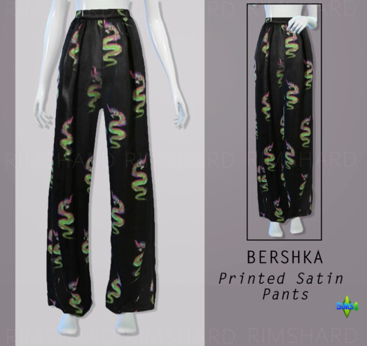 Printed Satin Pants