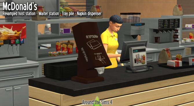 Sims 4 McDonalds kitchen at Around the Sims 4