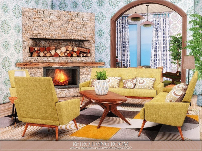Retro Living Room By Mychqqq