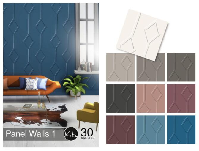 Sims 4 Panel Walls 1 at Ktasims