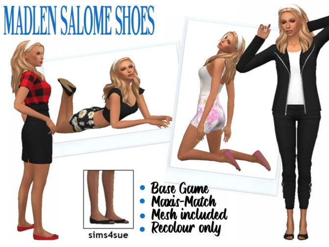 Sims 4 MADLEN'S SALOME SHOES at Sims4Sue
