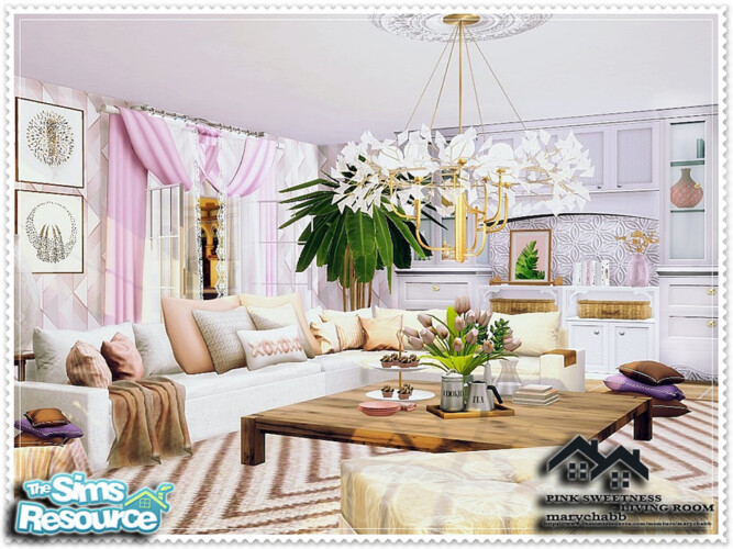 Pink Sweetness Living Room By Marychabb