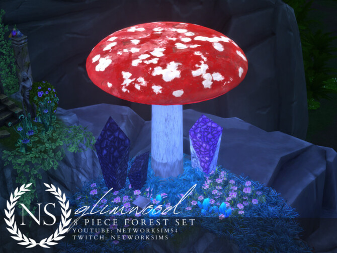 Sims 4 Glimwood Forest Set by Networksims at TSR