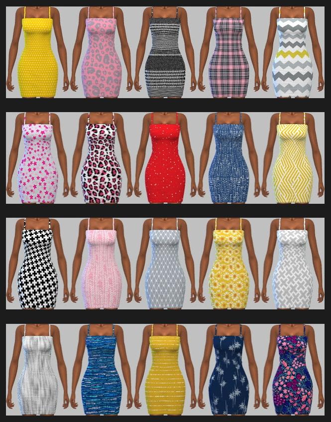 Sims 4 CASTERU Dresses Recolors at Annett's Sims 4 Welt