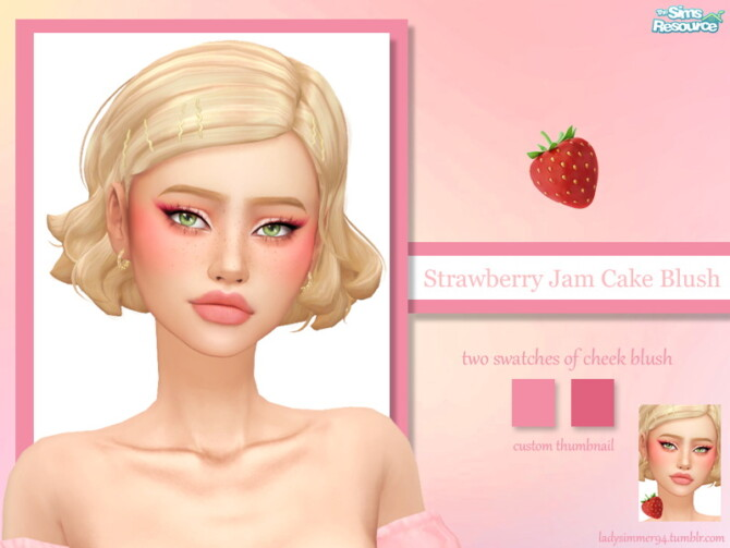 Sims 4 Strawberry Jam Cake Blush by LadySimmer94 at TSR