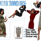 Rhowc's Fur Trimmed Dress