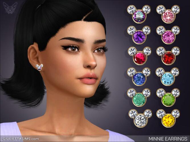 Minnie Earrings With Birthstones