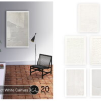 Abstract White Canvas