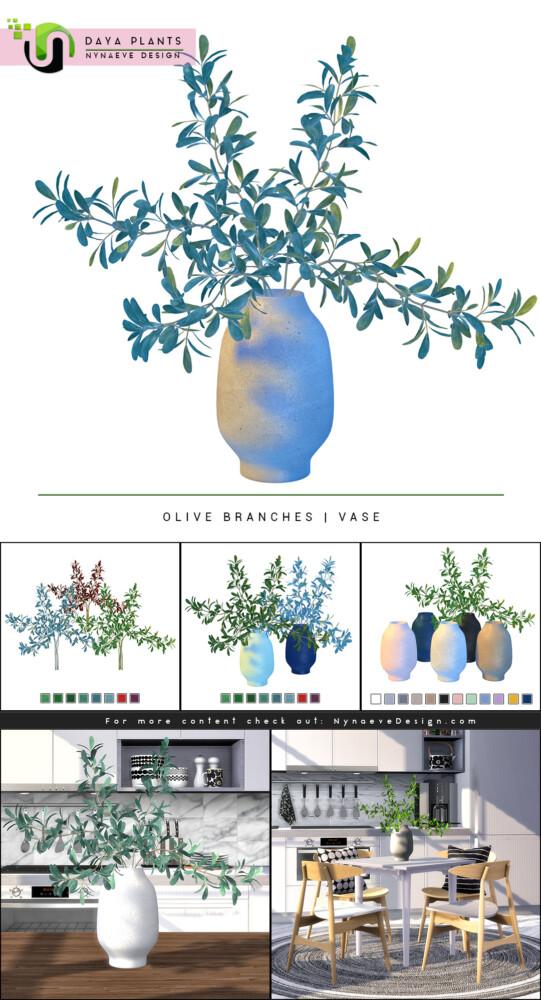 Sims 4 Daya Olive Branches at Nynaeve Design
