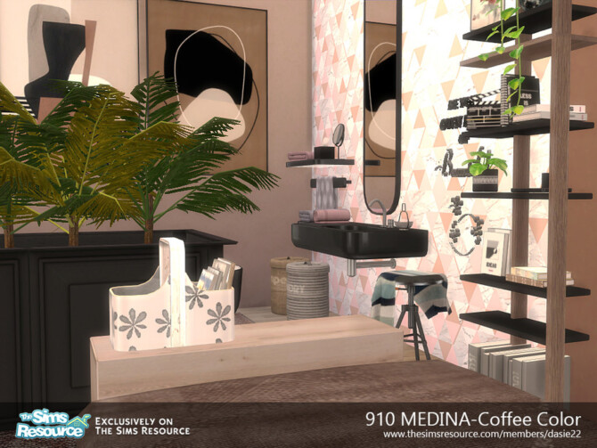 Sims 4 910 MEDINA Coffee Color by dasie2 at TSR