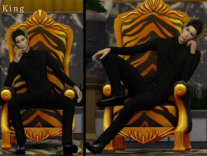 Sims 4 King Pose Pack by YaniSim at TSR