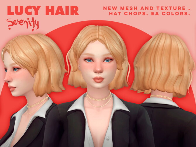 Sims 4 Lucy Hair at SERENITY
