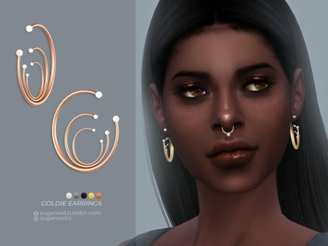 Sims 4 Goldie earrings by sugar owl at TSR