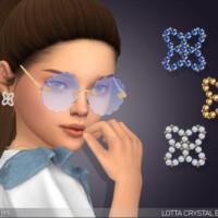 Lotta Crystal Earrings For Kids By Feyona
