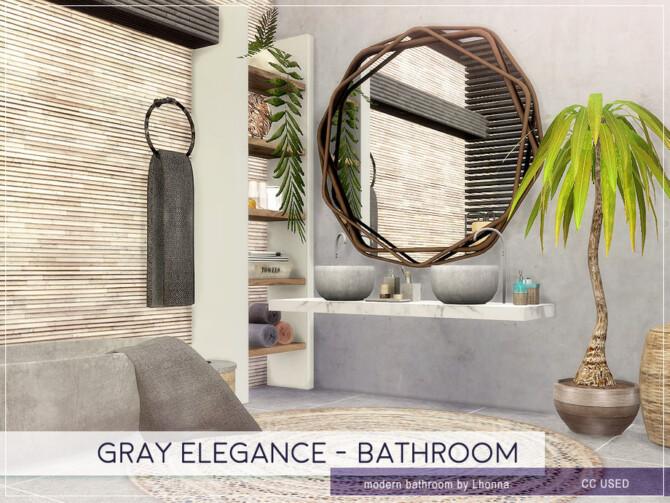 Sims 4 Gray Elegance Bathroom by Lhonna at TSR