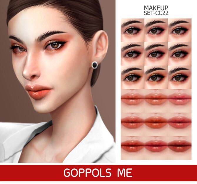 Sims 4 GPME GOLD MAKEUP SET CC22 at GOPPOLS Me