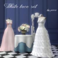 White Lace Set By Pocci
