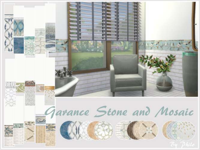 Garance Stone And Mosaic Set By Philo