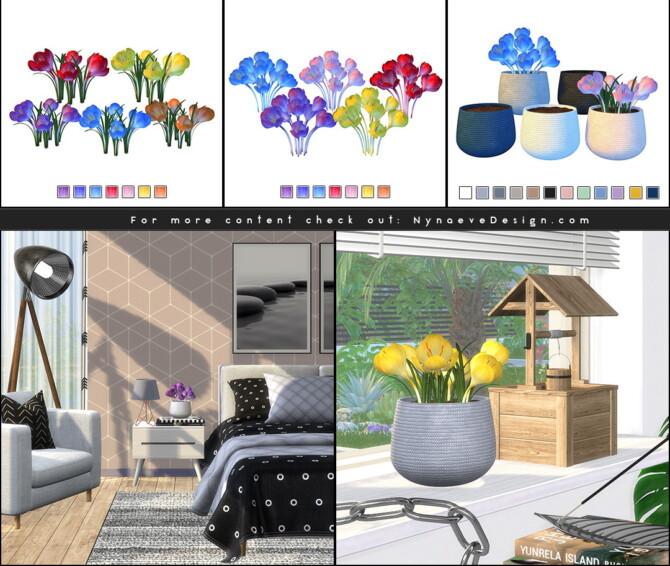 Sims 4 Daya Crocus Plant at Nynaeve Design