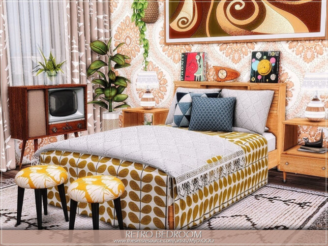 Retro Bedroom By Mychqqq