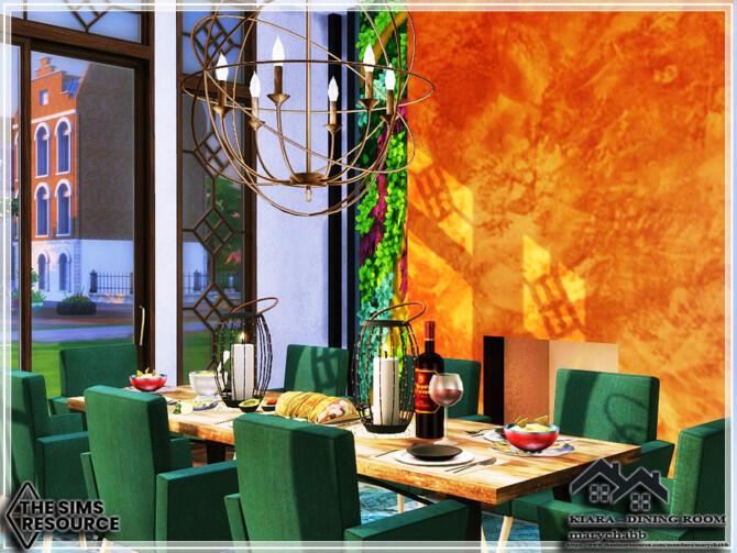 Sims 4 KIARA Dining Room by marychabb at TSR