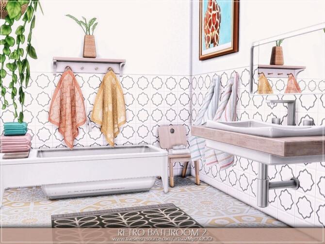 Sims 4 Retro Bathroom 2 by MychQQQ at TSR