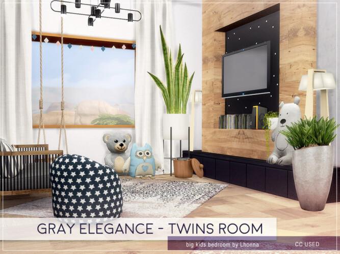 Gray Elegance Twins Room By Lhonna