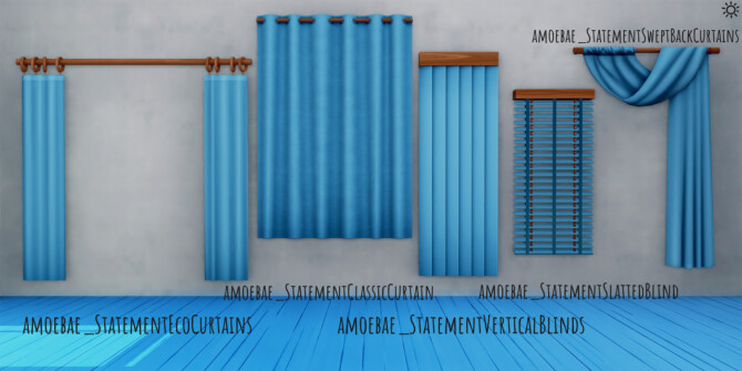 Sims 4 STATEMENT COLLECTION Pt 1   Curtains & Blinds at Picture Amoebae