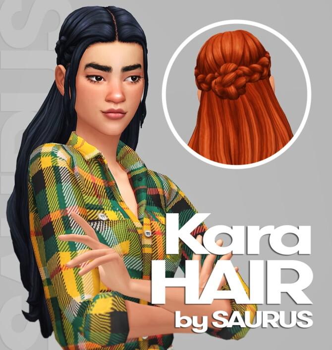 Sims 4 Kara Hair at Saurus Sims