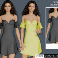 Party Dress By Sims2fanbg