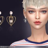 Physalis Pendant Earrings By Feyona