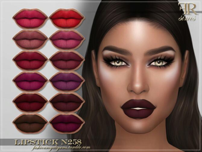 Sims 4 FRS Lipstick N258 by FashionRoyaltySims at TSR