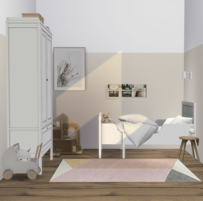Sims 4 Sundvik Toddler Bed & Closet at Heurrs