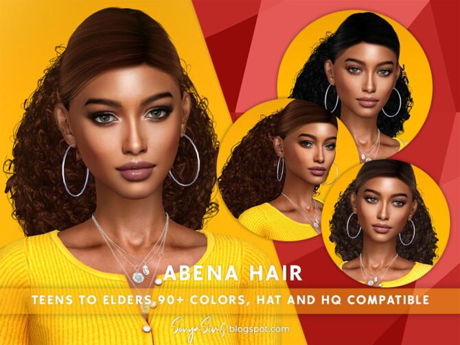 Sims 4 Abena Hair at Sonya Sims