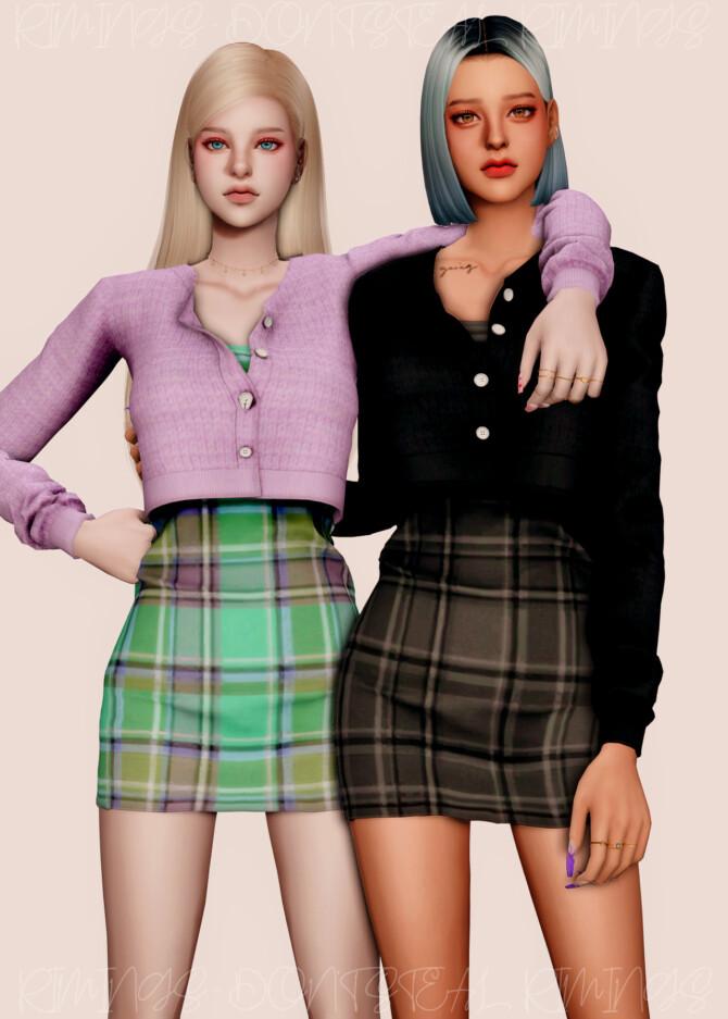Sims 4 Spring Short Cardigan & Sleeveless Dress at RIMINGs