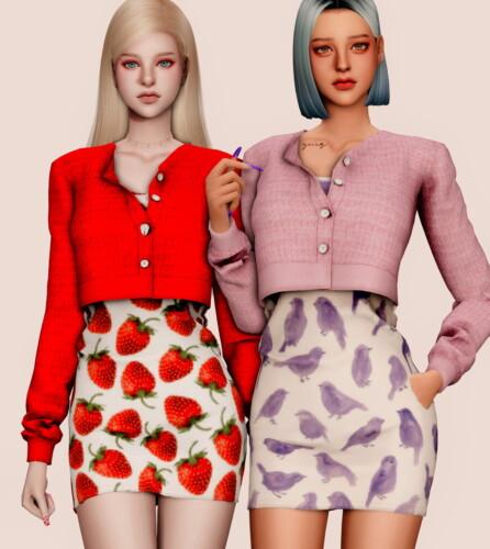 Spring Short Cardigan & Sleeveless Dress