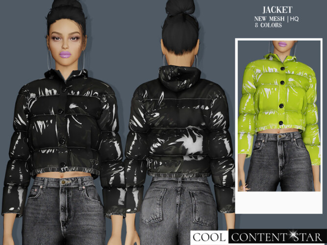 Padded Jacket By Sims2fanbg
