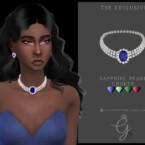 Sapphire Pearl Choker By Glitterberryfly