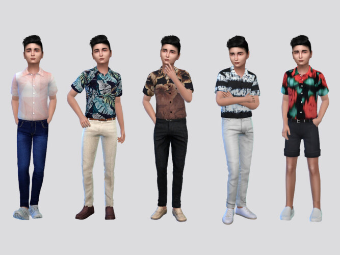 Jonas Printed Shirt Boys By Mclaynesims