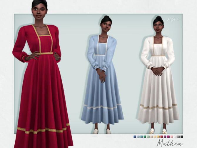 Sims 4 Mathea Dress by Sifix at TSR