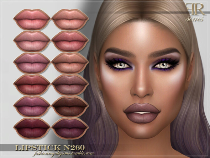 Sims 4 FRS Lipstick N260 by FashionRoyaltySims at TSR