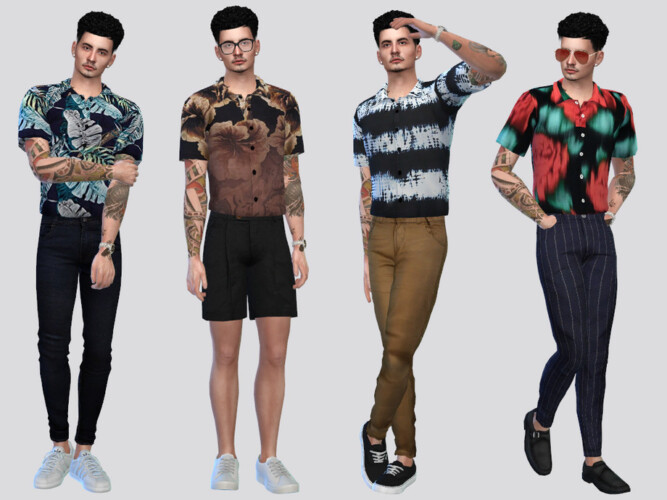 Jonas Printed Shirt By Mclaynesims
