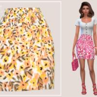 Spring Mini Skirt By Paogae