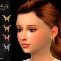 Butterfly Child Earrings By Suzue