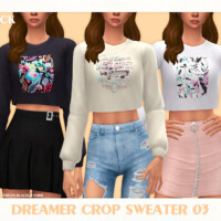 Dreamer Crop Sweater 03 By Black Lily