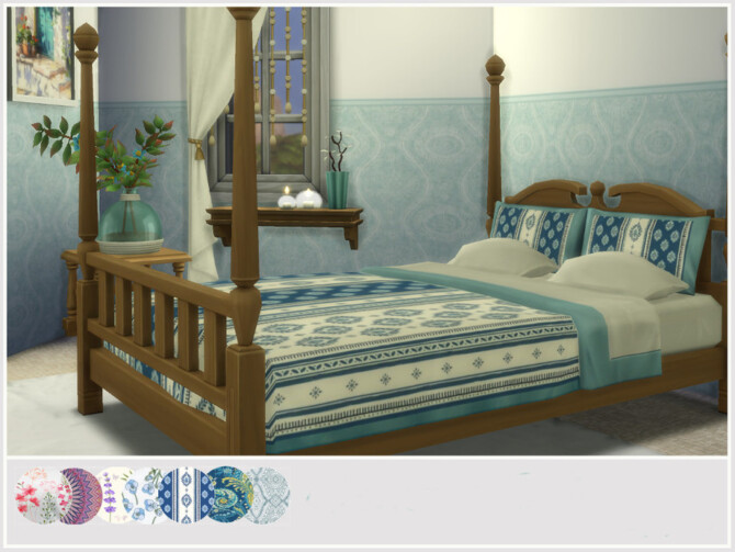 Sims 4 Garance Bed by philo at TSR