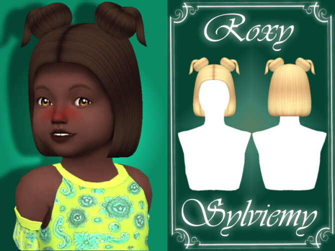 Sims 4 Roxy Hairstyle (Toddler) by Sylviemy at TSR